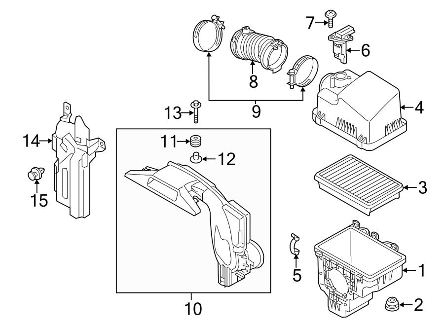 2017 Mazda Mass Air Flow Sensor. LITER, Engine, WSKYACTIV