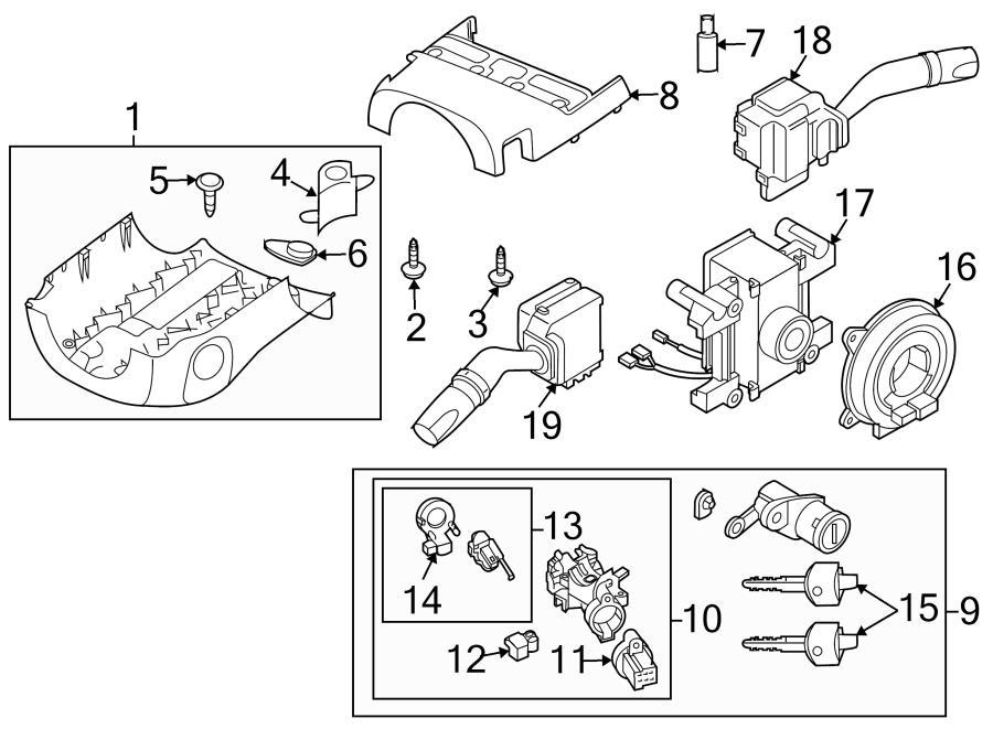 Mazda MX-5 Miata Ignition Immobilizer Antenna. IGNITION