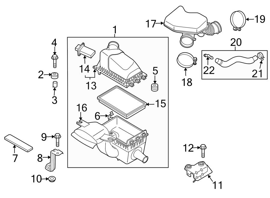 2015 Mazda MX-5 Miata Air Cleaner Cover (Upper). 3.7 LITER