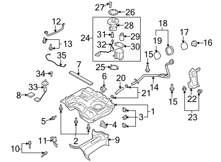 Mazda 3 Fuel Pump Strainer. SYSTEM, COMPONENTS, Assembly