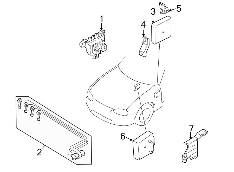 Mazda MIATA Transmission Control Module Bracket. Auto