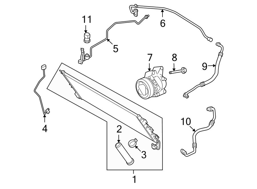 Mazda MX-5 Miata A/c receiver drier. Pressure, air