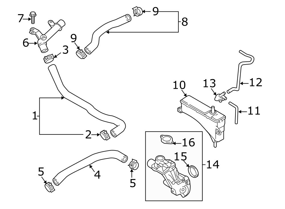 Mazda MX-5 Miata Cap. Engine coolant reservoir cap