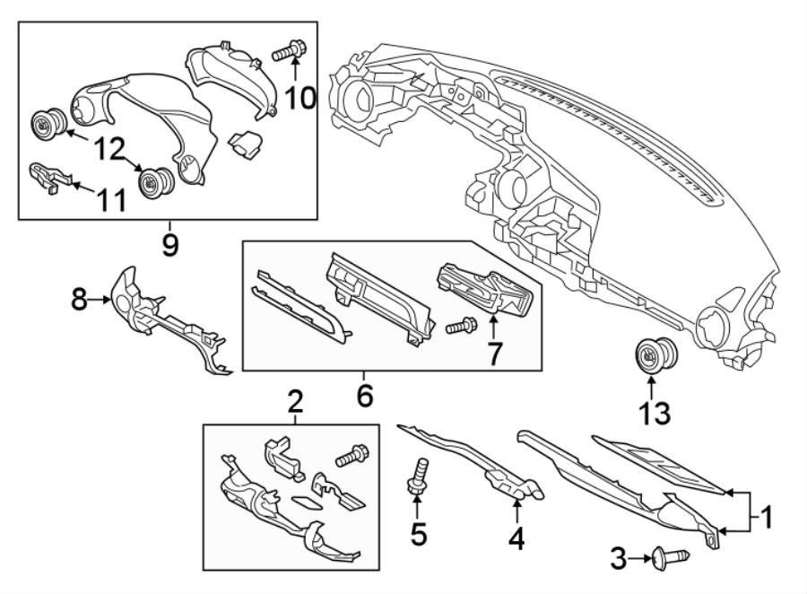Mazda MX-5 Miata Screw. Panel. (Upper, Lower). #2. 2.0