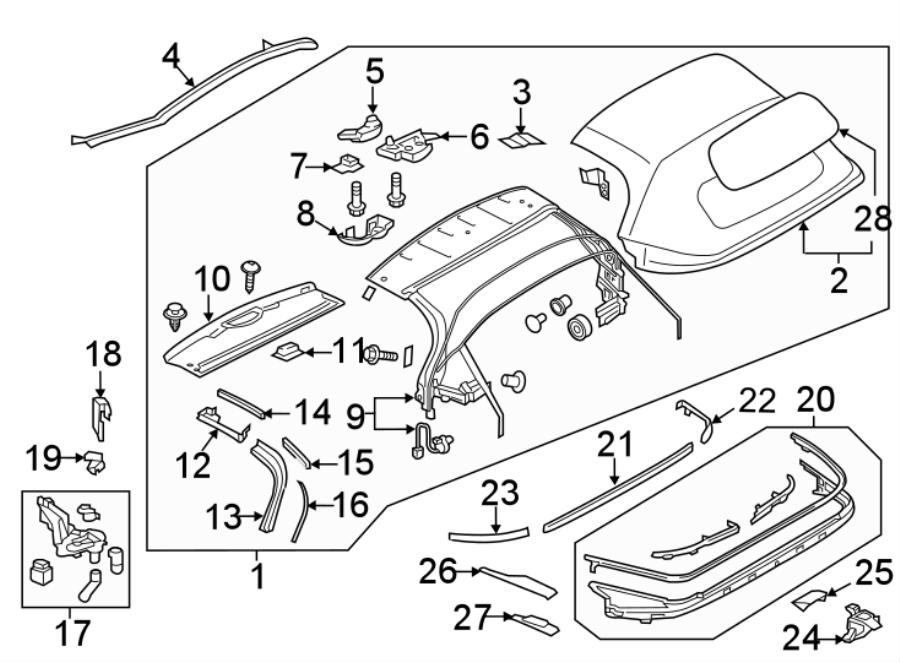 Mazda MX-5 Miata Convertible Top Seal (Right, Rear