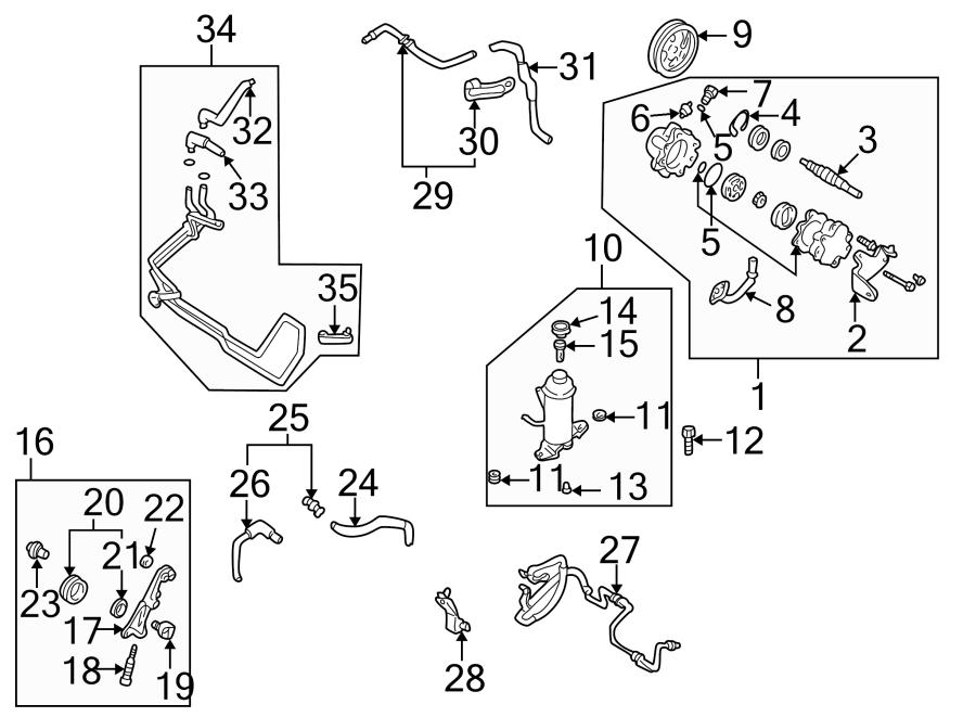 Mazda 626 Bracket. Tensioner. Line. Pressure. HO. Belt