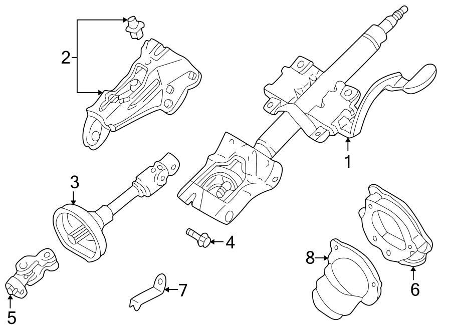 Service manual [2002 Mazda 626 Steering Shaft U Joint