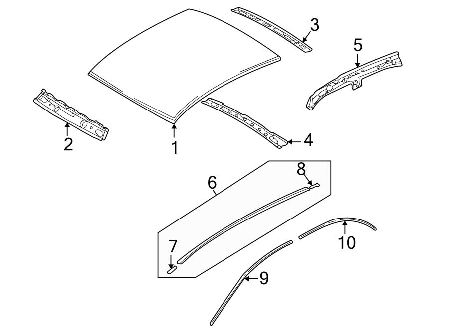 Service manual [1999 Mazda Millenia Roof Trim Removal