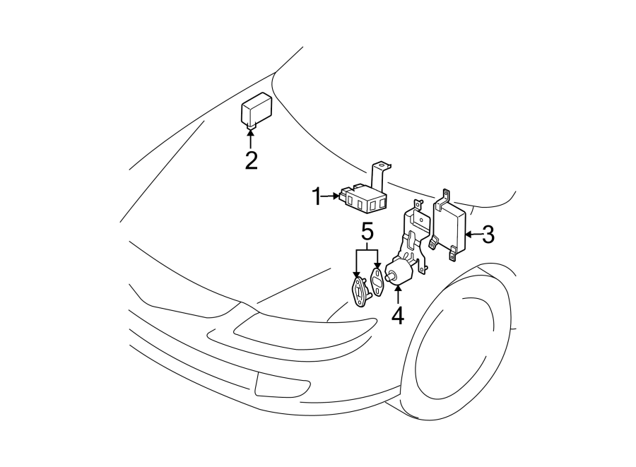 2004 Mazda 6 Automatic Transmission Control Module. PWT