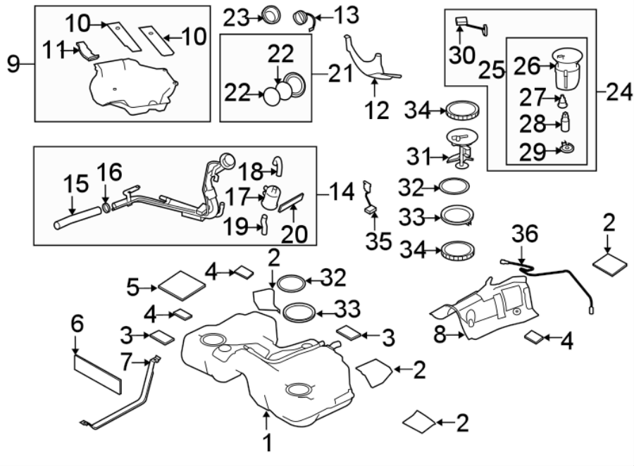 Mazda 3 Fuel. Pump. Filter. System, components, assembly