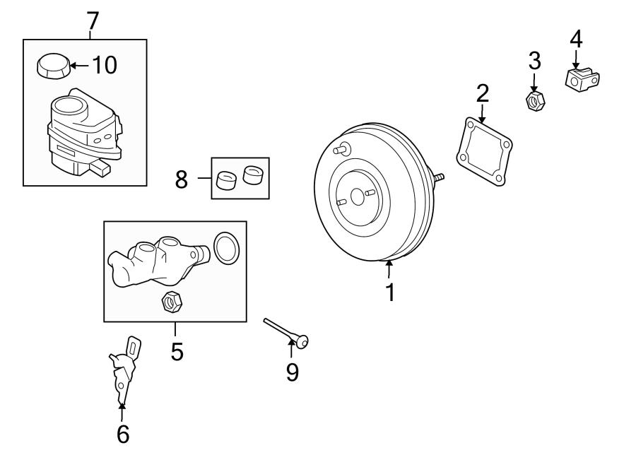 Mazda 6 Brake Master Cylinder Reservoir Cap. LITER, Trans