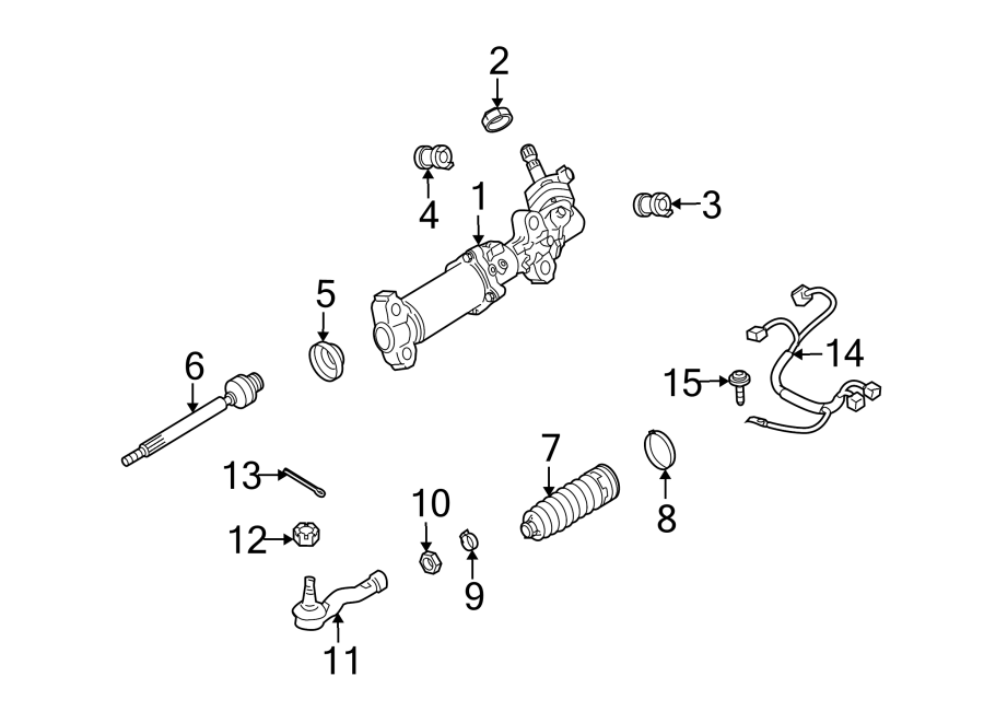 Mazda RX-8 Rack and Pinion Bellows Clamp. Lower, Steering