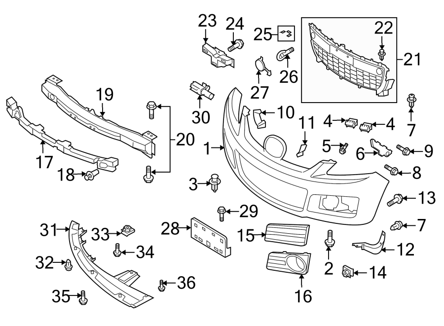 Mazda CX-7 Valance Panel (Right, Front, Lower). Air