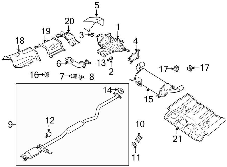 2008 Mazda Gasket. Pipe. Converter. (Front). 2.3 LITER