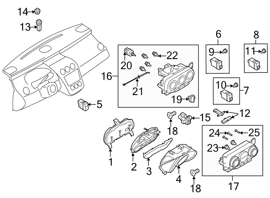 2011 Mazda Instrument Panel Light Bulb. Headlamp, Level