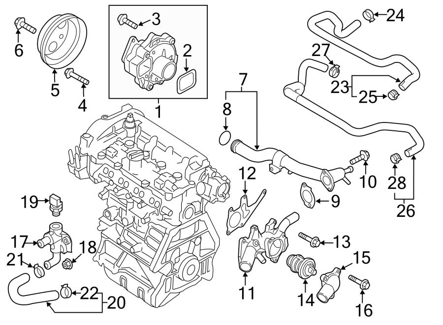 2016 Mazda CX-5 Hvac heater hose. Cooling, make, liter