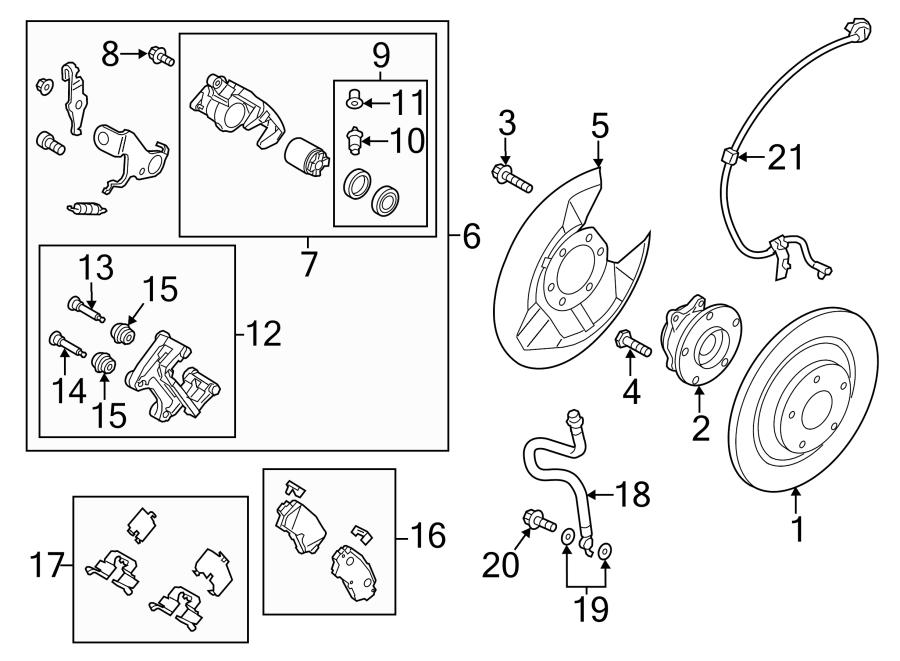 2016 Mazda CX-5 Parking Brake Actuator Seal Kit (Rear