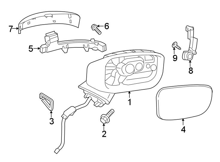 2017 Mazda Turn Signal Light Assembly. RIGHT, Fold, Lamp