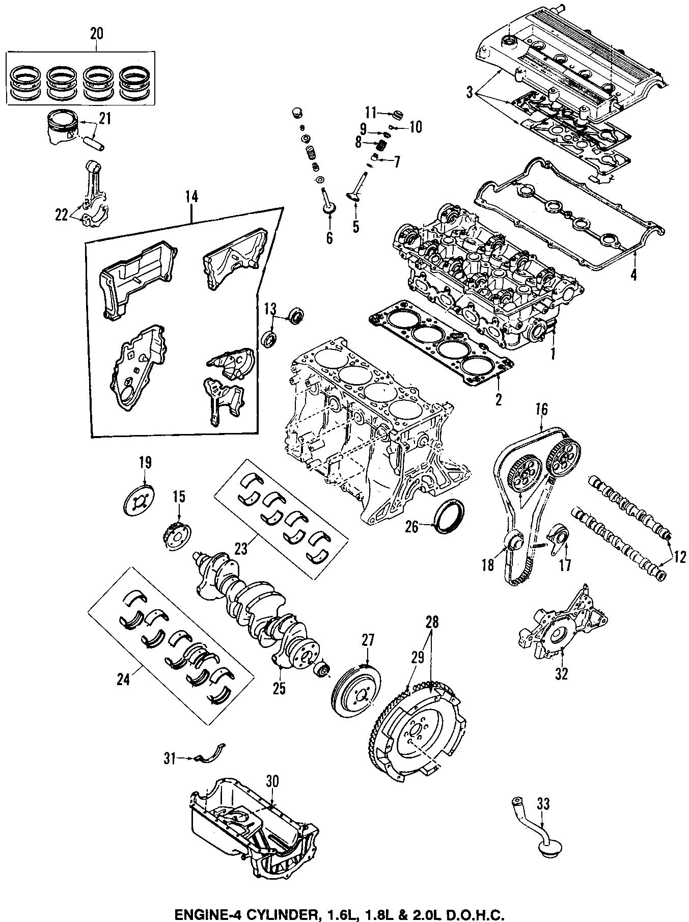 2002 Mazda Engine Camshaft Follower (Lower). Adjuster