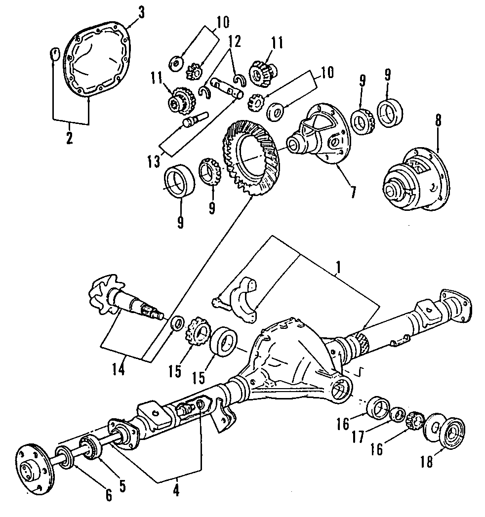 1993 Mazda BeaRing. Ring Gear 8.80. Differential Carrier