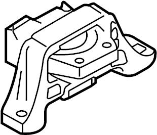 2007 Mazda 3 Mazdaspeed Hatchback 2.3L M/T Engine Mount