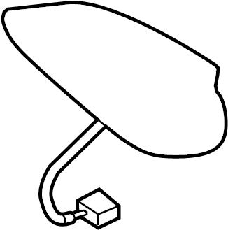 2015 Mazda 3 Antenna, Radio. White, Built, Japan
