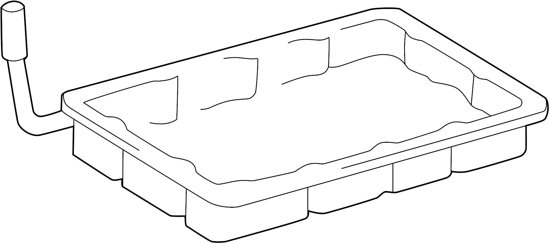2004 Mazda Automatic Transmission Oil Pan. Maintenance