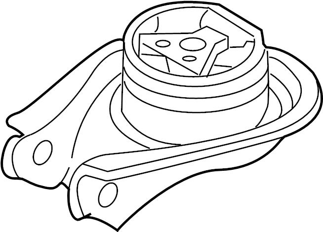 2011 Mazda 3 Mount. TRANSMISSION. RUBBER. NO.4, ENGINE.MTG