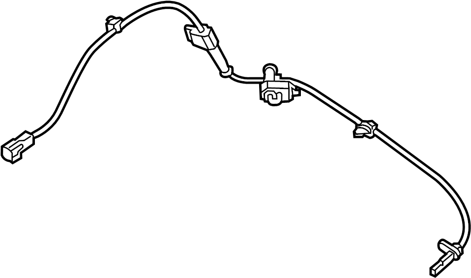 2016 Mazda CX-5 Abs wheel speed sensor (front). Suspension