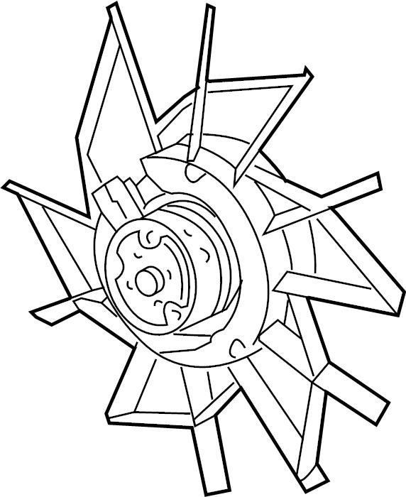 Mazda 323 A/c condenser fan motor. Fan. Condenser. /nla