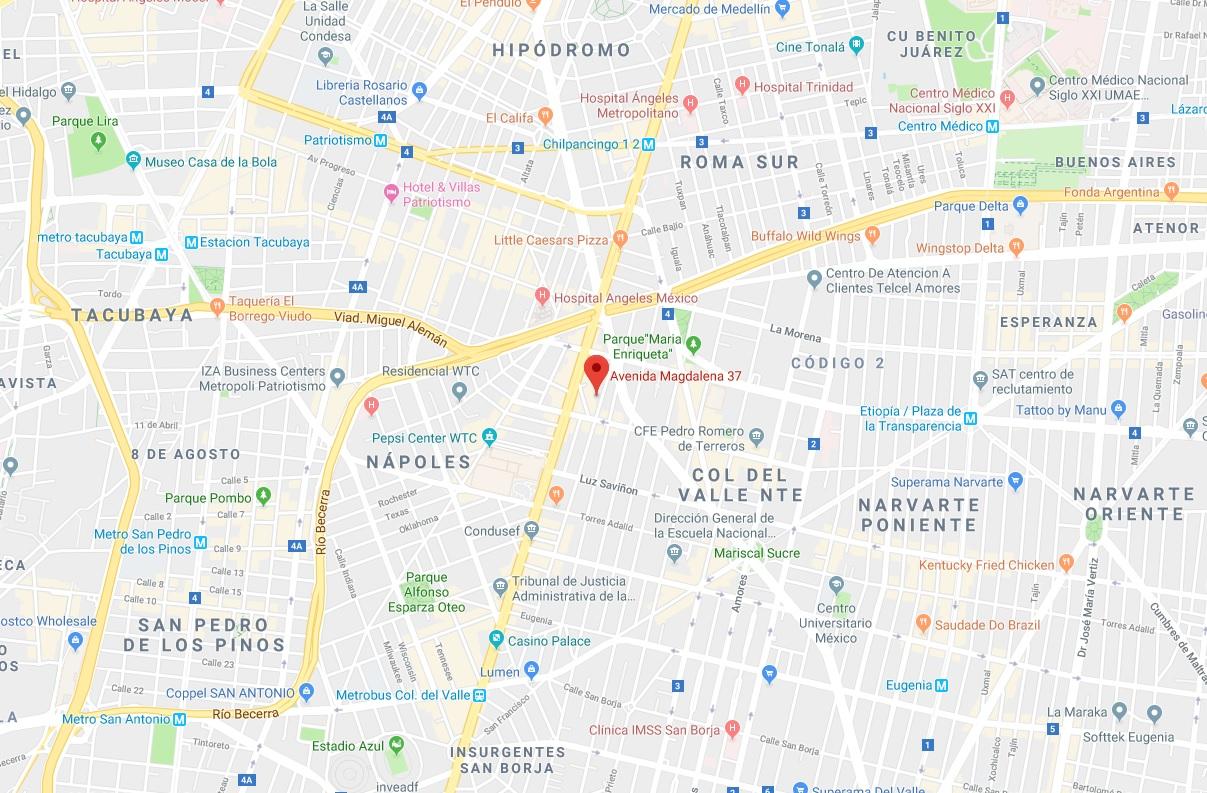 Mapa Oficina Cdmx