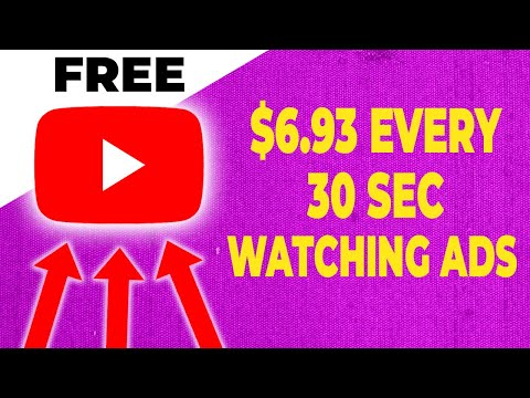 WATCH ADS AND EARN $6.93 Every 30 Seconds (Set Money Online)