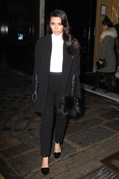 Kim Kardashian Sighting In Paris - January 22, 2013
