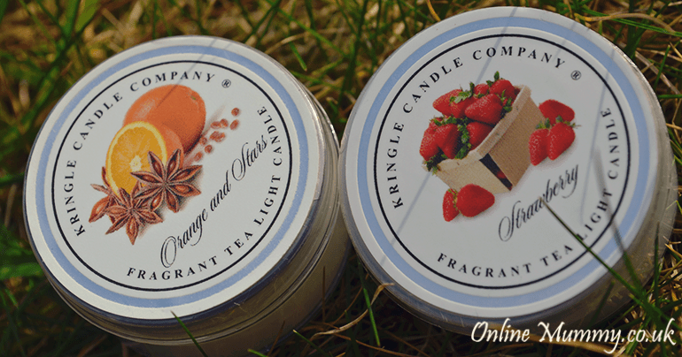 Kringle Candles Orange & Star and Strawberry
