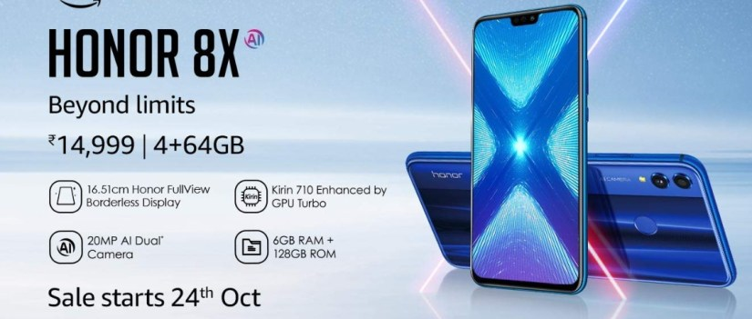 honor 8x launch in india