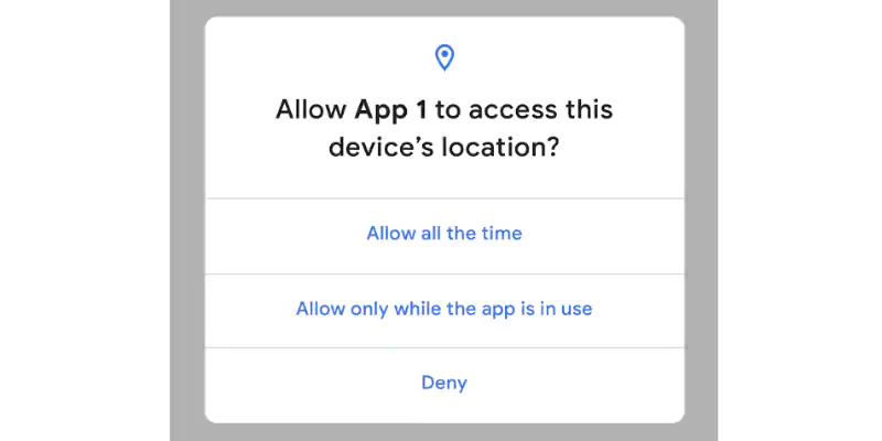 android q location access