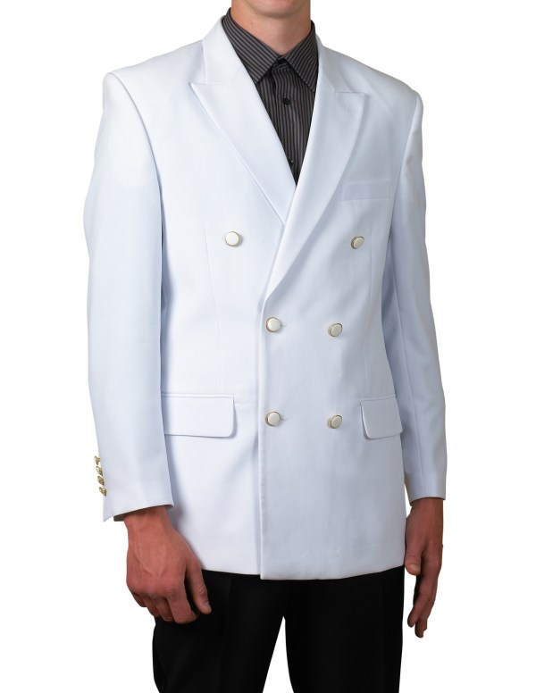 Mens Db White Blazer Suit Jacket Size 54 Long L 54l
