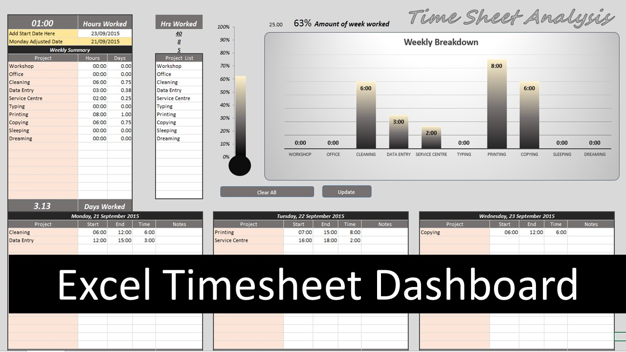 excel timesheet template download