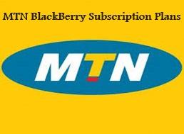 BlackBerry MTN Subscription Plans