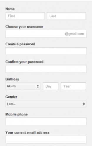Gmail Create Account