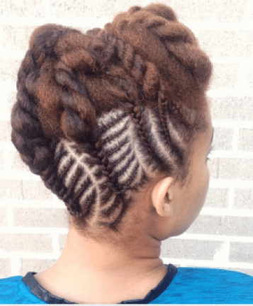 Latest Nigerian Women Black Braided Hairstyles