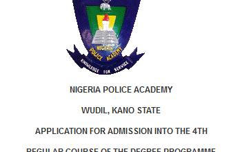 Nigerian Police Academy 2016 Application Form