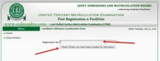 JAMB Portal To Check Admission Status, www.jamb.org.ng