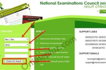 2016 NECO Nov/Dec Examination Results