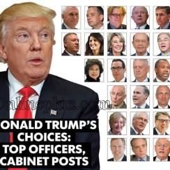 President Donald Trump's Cabinet Members