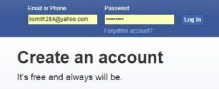 Login Facebook with Email Address