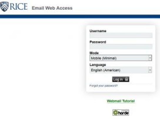 Login Rice Webmail