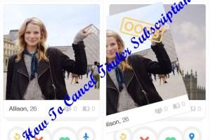 Cancel Tinder Subscription