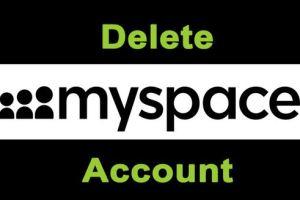 delete myspace account