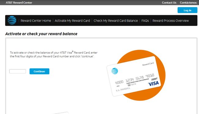 Activate AT&T Reward Card
